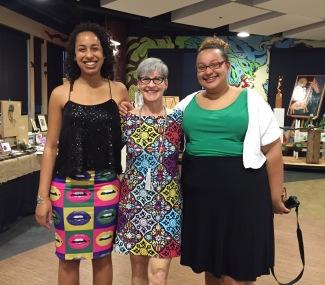 Lisa with alumni Janine and Susan Mwenja